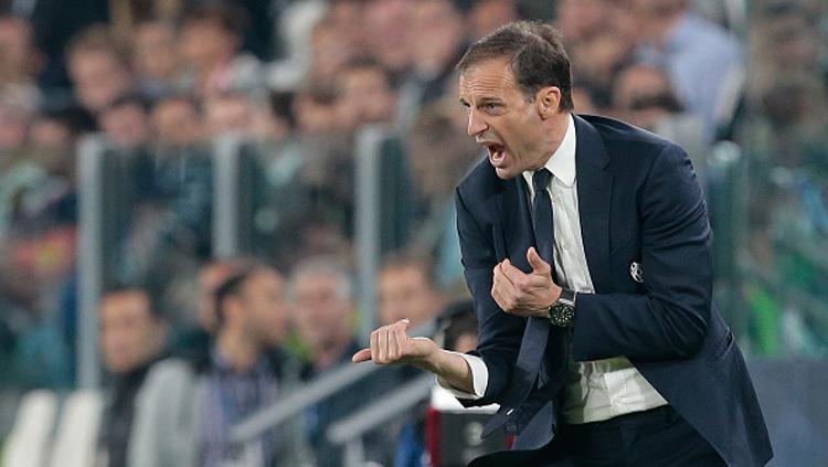 Pelatih Juventus, Massimiliano Allegri. Copyright: Emilio Andreoli/Getty Images