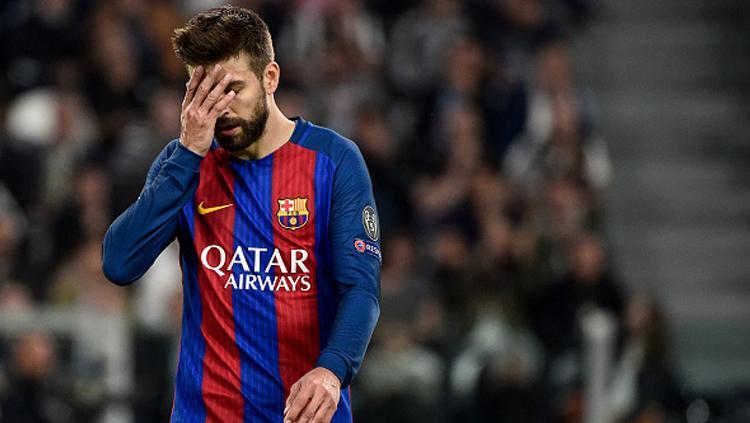 Bek andalan Barcelona, Gerard Pique. Copyright: Giuseppe Maffia/NurPhoto via Getty Images