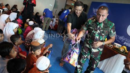 Ketua Umum PSSI, Edy Rahmayadi, mengundang sejumlah anak yatim piatu dalam HUT PSSI.