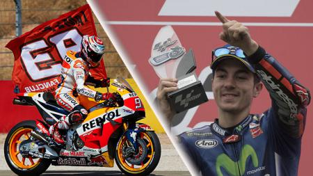 Marc Marquez vs Maverick Vinales - INDOSPORT