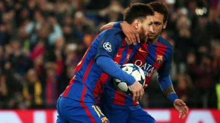 Lionel Messi dan Neymar. - INDOSPORT