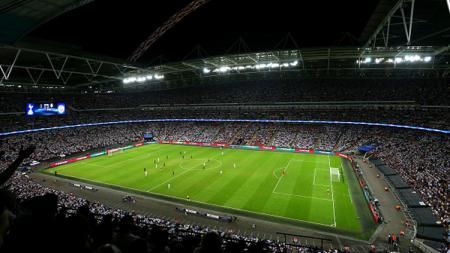 UEFA telah menunjuk Wembley untuk menjadi tuan rumah final Liga Champions tahun 2024 mendatang. - INDOSPORT