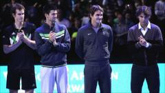 Indosport - The Big Four dunia tenis: Andy Murray, Novak Djokovic, Roger Federer, dan Rafael Nadal. (Sumber: BBC via Getty).