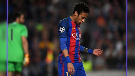 Upaya Barcelona untuk mendatangkan Neymar mendapat penolakan dari presiden LaLiga Spanyo, Javier Tebas. - INDOSPORT