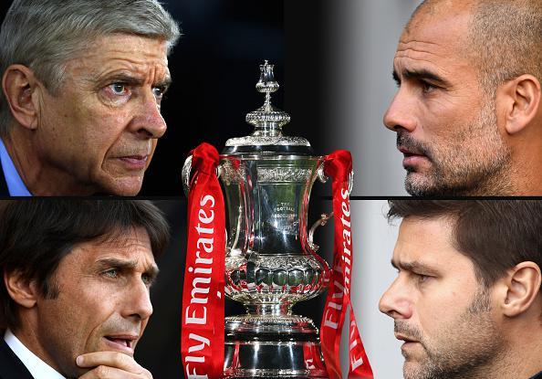 Para pelatih yang akan bertanding di semifinal Piala FA. Copyright: Getty Images