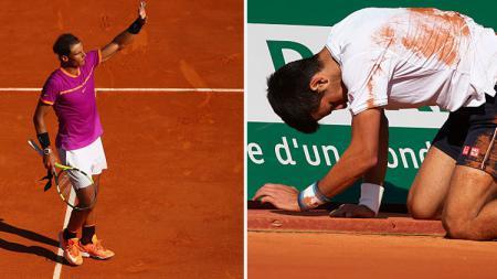 Rafael Nadal dan Novak Djokovic. - INDOSPORT
