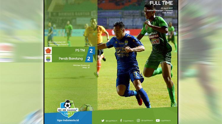 PS TNI vs Persib Bandung Copyright: twitter@Liga1Match