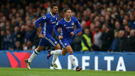Eden Hazard dan Diego Costa. - INDOSPORT