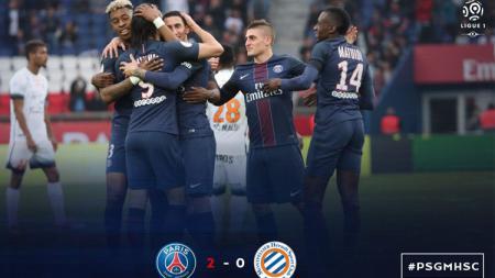 Paris Saint -Germain vs Montpellier. - INDOSPORT