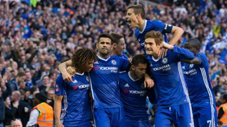 Chelsea vs Tottenham Hotspur babak semifinal Piala FA di Wembley Stadium. - INDOSPORT
