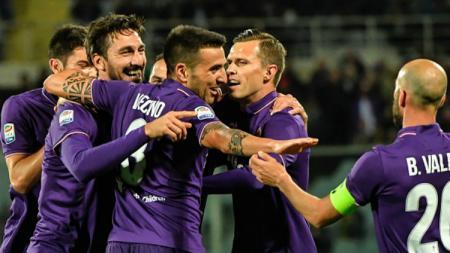 Fiorentina berhasil menang dengan skor 5-4 atas Inter Milan di kandang. - INDOSPORT