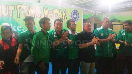 Ketua umum PSSI, Edy Rahmayadi tampak menghadiri launching dan Milad PSMS Medan. - INDOSPORT