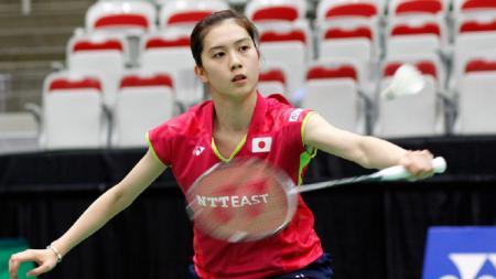 Pebulu tangkis cantik asal Jepang yang mencuri perhatian di Denmark Open, Aya Ohori, ternyata mengidolakan sosok Taufik Hidayat dan tidak tertarik menjadi seorang model. - INDOSPORT