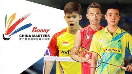 Kanan-kiri: Soong Joo Ven, Lin Dan dan Fikri Ihsandi Hadmadi. - INDOSPORT