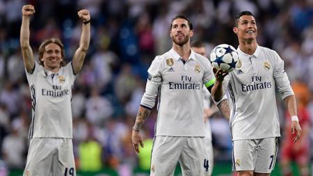 Luka Modric tak menyesalkan kepergian Cristiano Ronaldo dari klub LaLiga Spanyol, Real Madrid. - INDOSPORT
