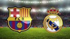 Indosport - Logo Barcelona dan Real Madrid.