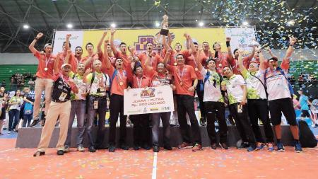 Tim Putra Jakarta Pertamina Energi Juara Proliga 2017. - INDOSPORT