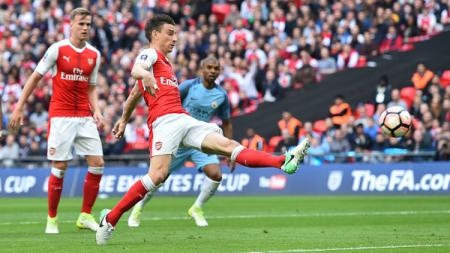 Arsenal vs Manchester City di semifinal Piala FA. - INDOSPORT