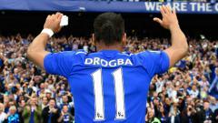 Indosport - Mengenang kembali Didier Drogba si penjinak Meriam London jelang pertemuan Chelsea vs Arsenal