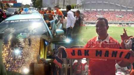 Gubernur terpilih, Anies Baswedan, bus Semen Padang dilempari batu, hingga Borneo FC naik taksi. - INDOSPORT