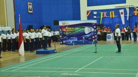 Penutupan Pekan Olahraga Angkatan Laut (Poral) Badminton 2017. - INDOSPORT