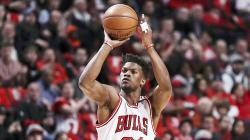 Jimmy Butler saat masih berseragam Chicago Bulls.