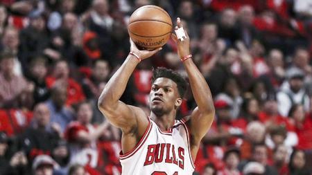 Jimmy Butler saat masih berseragam Chicago Bulls. - INDOSPORT