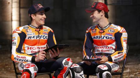 Marc Marquez dan Dani Pedrosa dikenal karena keberaniannya sebagai pembalap MotoGP. - INDOSPORT