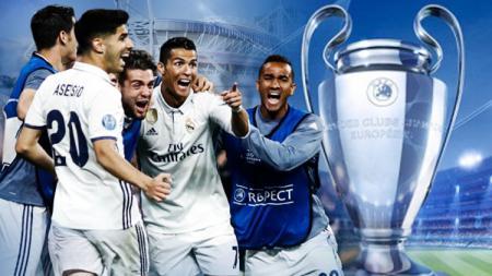 Real Madrid menuju Stadion Millennium. - INDOSPORT