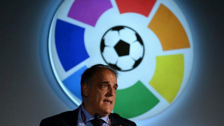 Presiden LaLiga, Javier Tebas, mengatakan bahwa ia ingin eks pemain dan pelatih Real Madrid, Cristiano Ronaldo, dan Jose Mourinho, untuk kembali ke Spanyol. - INDOSPORT