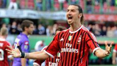 Indosport - Ibrahimovic saat masih berseragam AC Milan