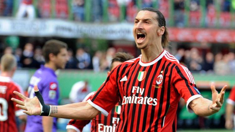 Ibrahimovic saat masih berseragam AC Milan Copyright: Claudio Villa/Getty Images