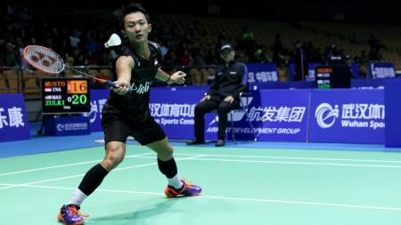 Ihsan Maulana Mustofa di babak pertama Badminton Asia Championships 2017. - INDOSPORT