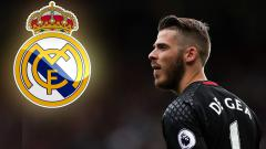 Indosport - David De Gea, kiper Man United yang tengah diincar Real Madrid.