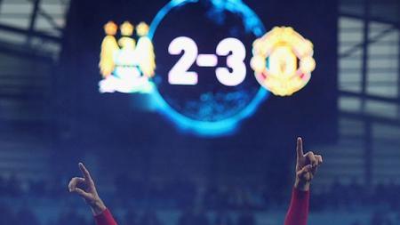 Man City 2-3 Man United. - INDOSPORT