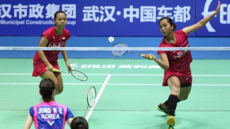 Della Destiara Haris/Rosyita Eka Putri Sari di babak kedua Badminton Asia Championships 2017. - INDOSPORT
