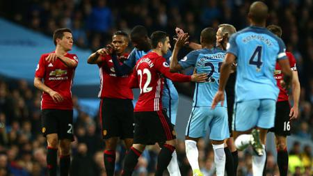 Manchester City vs Manchester United. - INDOSPORT