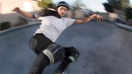 Pemain skateboard, Lizzie Armanto. - INDOSPORT