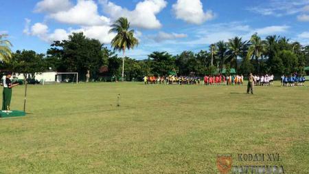 Kodam XVI/Pattimura menyelenggarakan turnamen sepakbola dalam rangka HUT ke-18. - INDOSPORT