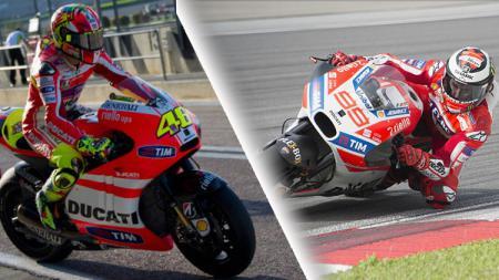 Valentino Rossi dan Jorge Lorenzo. - INDOSPORT