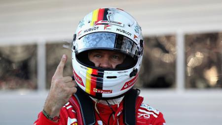 Pembalap Ferrari, Sebastian Vettel. - INDOSPORT