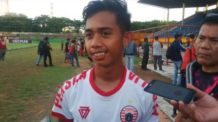 Pemain muda Persija Jakarta, Muhammad Rasul Habibi. - INDOSPORT
