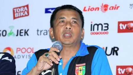 Pelatih Mitra Kukar, Jafri Sastra dalam sebuah keterangan pers. - INDOSPORT
