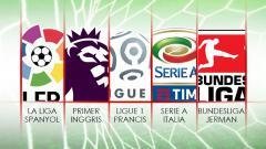 Indosport - Logo lima liga top Eropa.