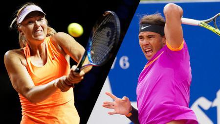 Maria Sharapova dan Rafael Nadal. - INDOSPORT