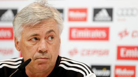 Carlo Ancelotti kabarnya akan diberi satu pemain baru oleh Presiden Napoli, Aurelio De Laurentiis. Helios de la Rubia/Real Madrid via Getty Images. - INDOSPORT