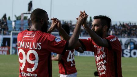 Marco Flores, pencetak gol kemenangan Bali United. - INDOSPORT