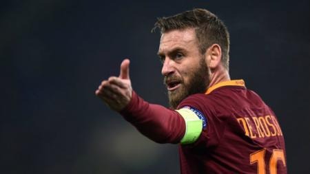 Gelandang bertahan sekaligus kapten AS Roma, Daniele De Rossi. - INDOSPORT