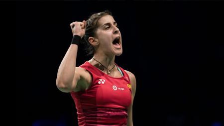 Pebulutangkis asal Spanyol, Carolina Marin membeberkan alasan mengapa ia memutuskan mundur dari turnamen bulutangkis Fuzhou China Open 2019. - INDOSPORT