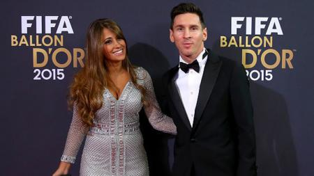 Lionel Messi dan Antonella Roccuzzo. - INDOSPORT